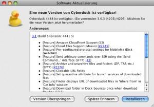 FTP-Client Cyberduck 3.1