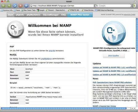 mamp-webstart