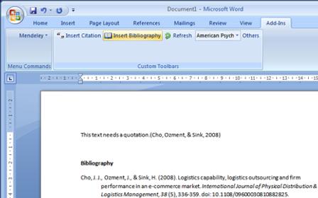 mendeley-bibliographie